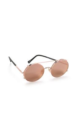 Sunday Somewhere Valentine Sunglasses - Rose Gold/Rose Gold Mirror