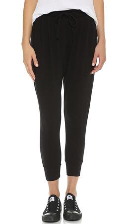 Sundry Pleated Slouchy Pants - Black