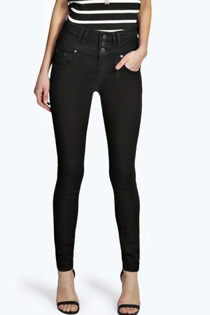 Super High Waisted Skinny Jeans black