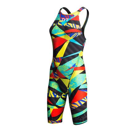 """""""TYR Women's Avictor Prelude Open Back Race Suit - 36"""""""" Black/Multi"""""""