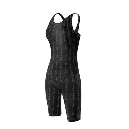 """""""TYR Women's Fusion 2 Aerofit Shortjohn Swimsuit - 36"""""""" Black"""""""