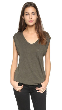 T By Alexander Wang Classic Muscle Tee - Lichen
