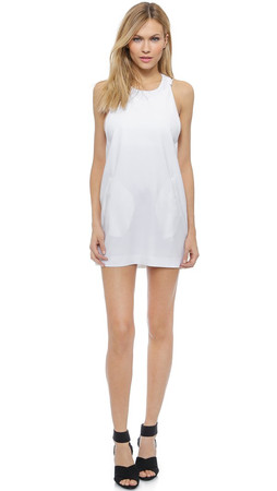 T By Alexander Wang Crepe Camisole Dress - White