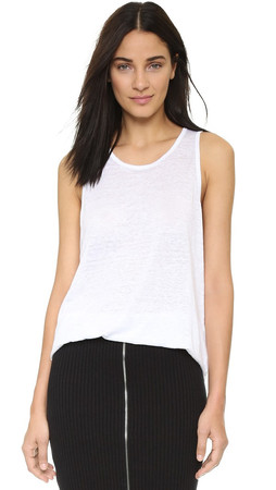 T By Alexander Wang Oversized Tank - White