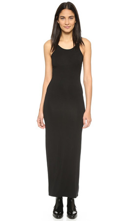 T By Alexander Wang Tank Maxi Dress - Black