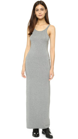 T By Alexander Wang Tank Maxi Dress - Heather Grey