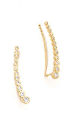 Tai Crystal Ear Crawlers - Clear/Gold