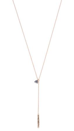 Tai Crystal Lariat Necklace - Montana Multi/Gold