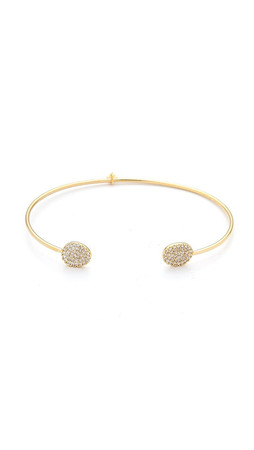 Tai Dual Pave Thin Bracelet - Clear/Gold