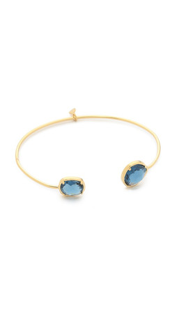 Tai Duo Stone Open Bracelet - Montana/Gold