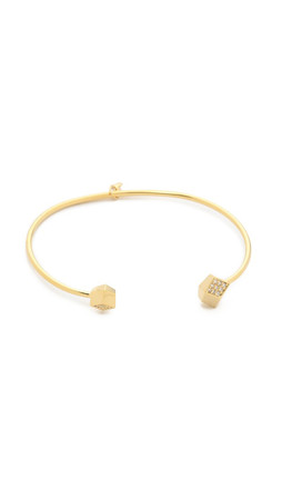 Tai Open Cube Bracelet - Gold/Clear
