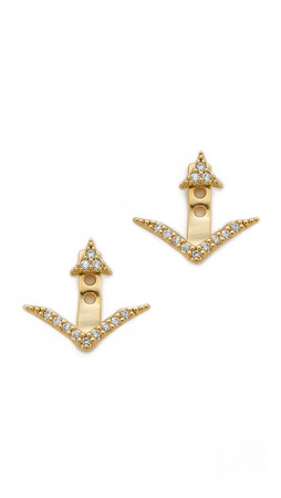 Tai Pave Earrings - Clear/Gold