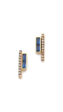 Tai Row Earrings - Montana/Gold