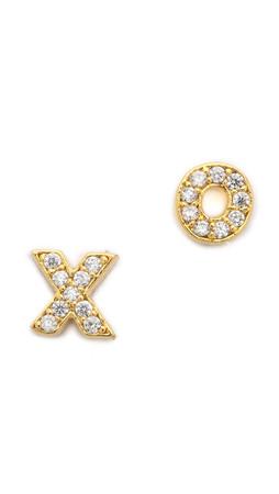 Tai Xo Earrings - Gold/Clear