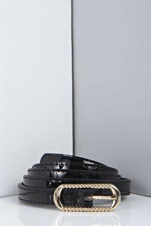 Tamara Skinny Belt - black