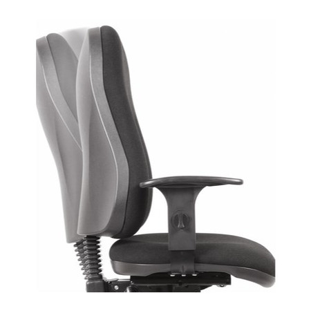 Teknik Office Ergo Comfort Black Executive Operator Chair with Arms