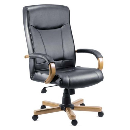 Teknik Office Kinsley Leather Faced Executive Chair in Light Oak