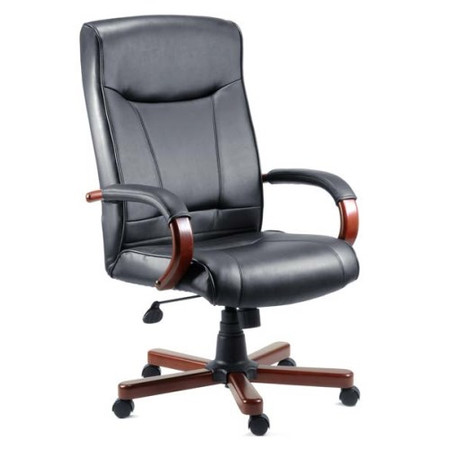 Teknik Office Kinsley Leather Faced Executive Chair in Mahogany