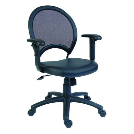 Teknik Office Silas Mesh and Leather Managers Chair