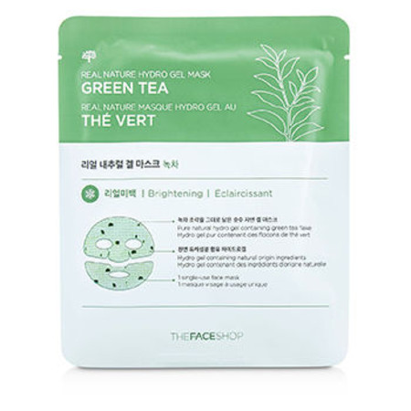 The Face Shop Real Nature Hydro Gel Mask - Green Tea (Brightening) 5x25g/0.88oz