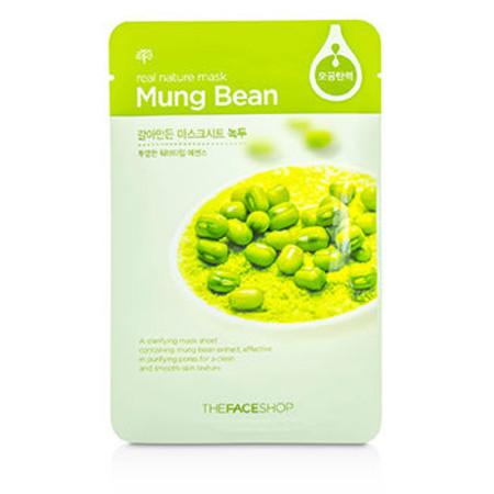 The Face Shop Real Nature Mask - Mung Bean (Clarifying) 10x20g/0.7oz