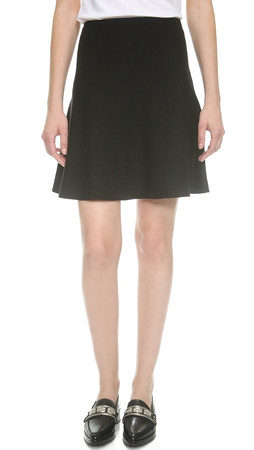 Theory Evian Stretch Lotamee Skirt - Black