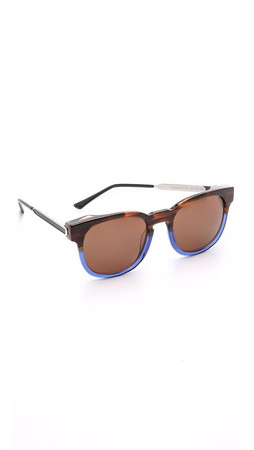 Thierry Lasry Authority Sunglasses - Brown Blue/Brown