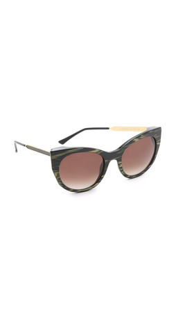 Thierry Lasry Bunny Stripes Sunglasses - Vintage Green Stripes/Brown
