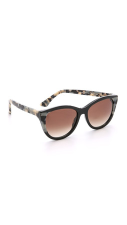 Thierry Lasry Flattery Sunglasses - Black Leopard/Brown