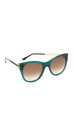 Thierry Lasry Strippy Sunglasses - Green/Brown Gradient