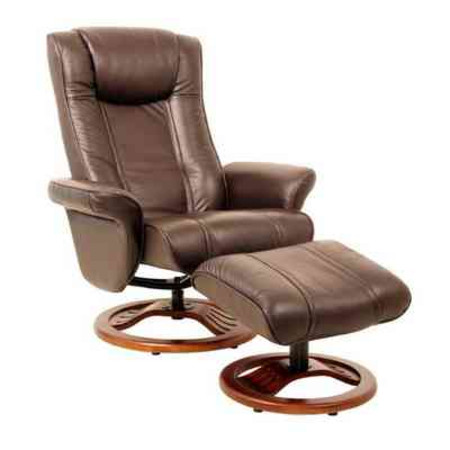 Thornton Chocolate Leather Tv Chair