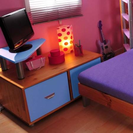 Thuka Combo Kids Natural 2 Door TV Unit in Blue