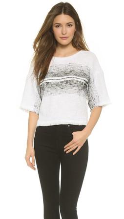 Tibi Kimono Sleeve Top - White Multi