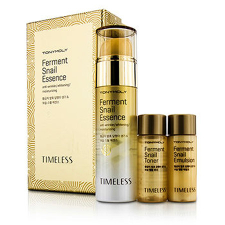TonyMoly Timeless Ferment Snail Essence Set: Snail Essence 50ml + Snail Toner 20ml + Snail Emulsion 20ml 3pcs