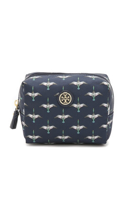 Tory Burch Brigitte Cosmetic Case - Tory Navy Canard Combo
