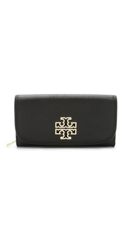 Tory Burch Britten Duo Envelope Continental Wallet - Black