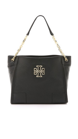 Tory Burch Britten Small Slouchy Tote - Black