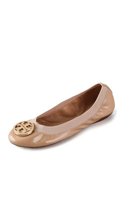 Tory Burch Caroline Patent Ballet Flat - Camille Pink
