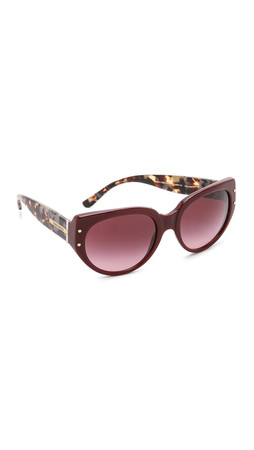 Tory Burch Cat Eye Sunglasses - Bordeaux Tort/Burgundy Grad