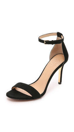 Tory Burch Classic Ankle Strap Sandals - Black