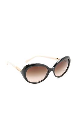 Tory Burch Classic Sunglasses - Black/Smoke Grey Gradient