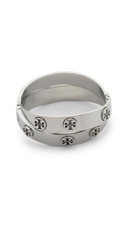 Tory Burch Double Wrap Cuff Bracelet - Tory Silver