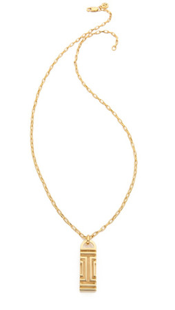 Tory Burch Fitbit Pendant Necklace - Shiny Gold