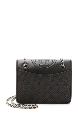Tory Burch Fleming Medium Bag - Black