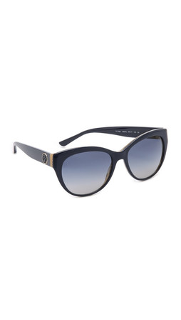 Tory Burch Full Rim Cat Eye Sunglasses - Navy Horn/Navy