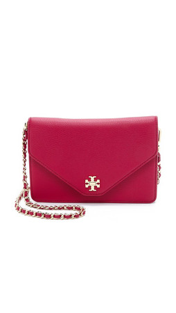 Tory Burch Kira Clutch - Raspberry