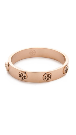 Tory Burch Metal Logo Stud Bracelet - Rose Gold