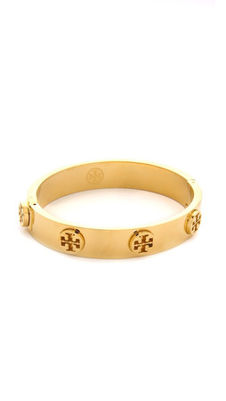 Tory Burch Metal Logo Stud Bracelet - Shiny Gold