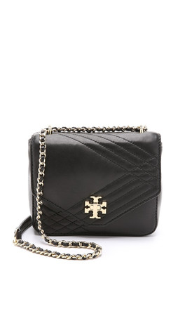 Tory Burch Mini Kira Quilted Cross Body Bag - Black