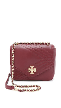 Tory Burch Mini Kira Quilted Cross Body Bag - Red Agate
